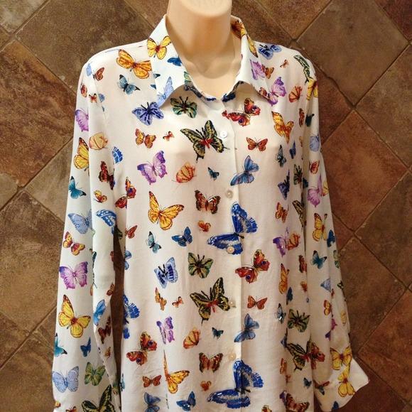 aaf5db5f4f82 Nicole Taylor Silk Butterfly Blouse. M_51ecb59f4b807505e50064c7