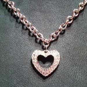 Jewelry - 💎 Swarovski Pave Crystal Heart Necklace.