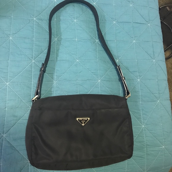 89f10f7863c1 Prada Bags | Price Drop Black Nylon Bag W Leather Trim | Poshmark