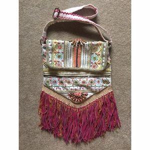 Antik Kraft Handbags - Hand Beaded Fringed Bag