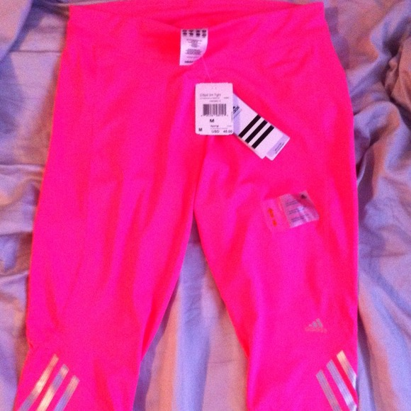 Adidas - SOLD IN BUNDLE! NWT Adidas bright pink workout pan from ...