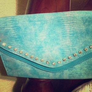 Clutches & Wallets - Envelope diamond studed shoulder purse