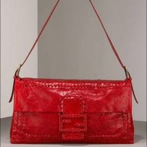 🎉HOST PICK🎉Fendi red leather baguette  NWT