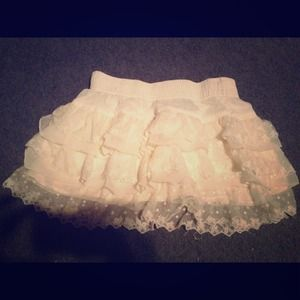 Make an offerCream lace skirt