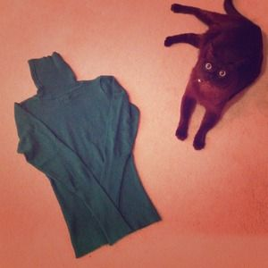 💟Emerald Green Long-Sleeved Turtleneck Sweater💟
