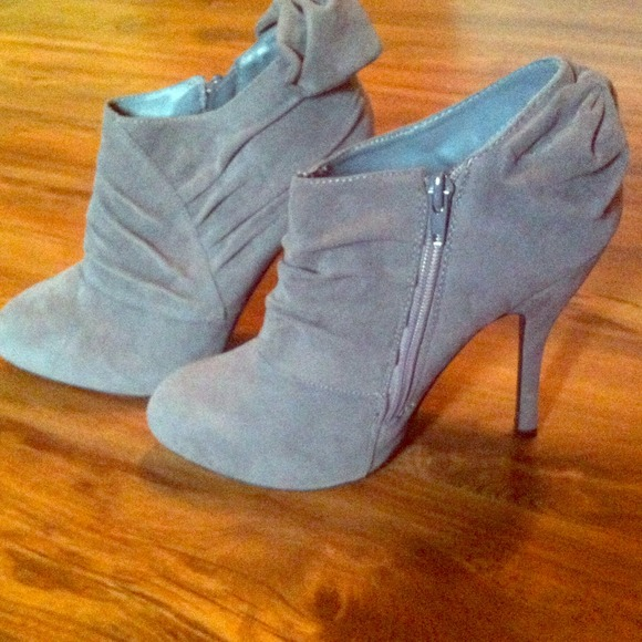 50 shi shoes gray heel boots by shi sold