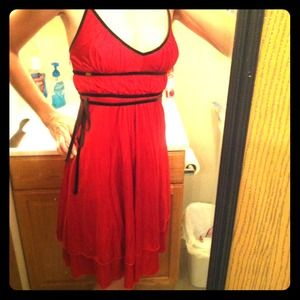 ✨Reduced! ✨Miss Sixty red silky dress.