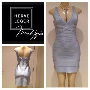 Herve Leger Dresses & Skirts - 🎆 REDUCED!!!🎆HERVE LEGER light blue dress.