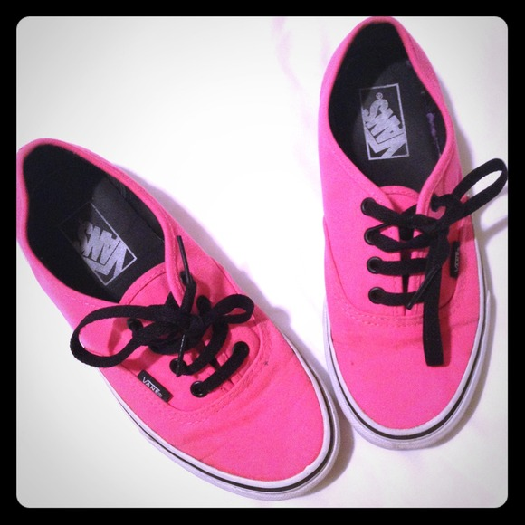 fed7cf493d Vans Shoes - Neon pink vans. Size- Men 5 women 6.5