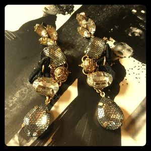 none Jewelry - Rhinestone drop earrings