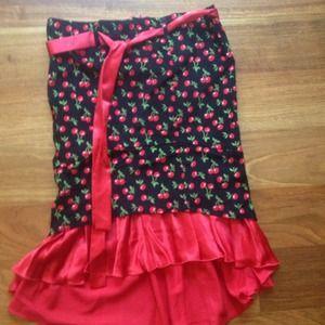 Dresses & Skirts - Cherry Pin Up Skirt