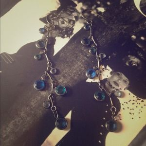 cache Jewelry - Crystal and gunmetal earrings