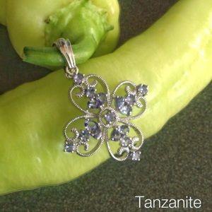 Jewelry - Pretty Tanzanite Cross Enhancer