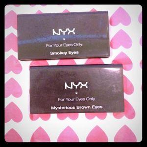 Accessories - NYX eye shadow smokey eye & mysterious brown eyes