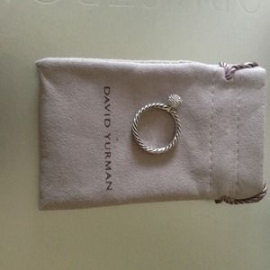 David Yurman Diamond Pave ball ring