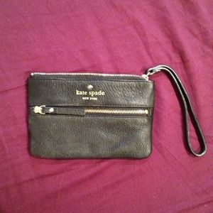 Never worn authentic Kate Spade black clutch