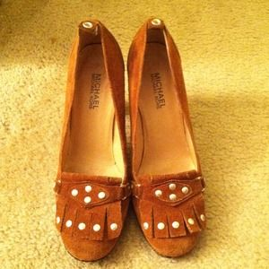 Michael Kors moccasin heels REDUCED