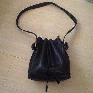Authentic Coach leather crossbody bucket bag