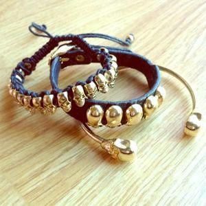 🚫SOLD🚫Skull Bracelet BUNDLE