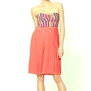 Awesome Sabine coral multicolored bustier dress!
