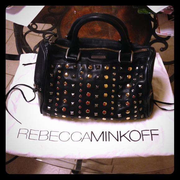8992b97d352 Rebecca Minkoff black leather studded purse. M_51ef5450da47f815a3007a67