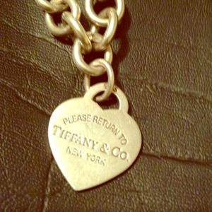 Return to Tiffany heart charm silver necklace