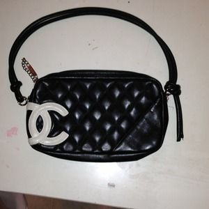 Authentic Chanel Cambon CC Pochette Purse