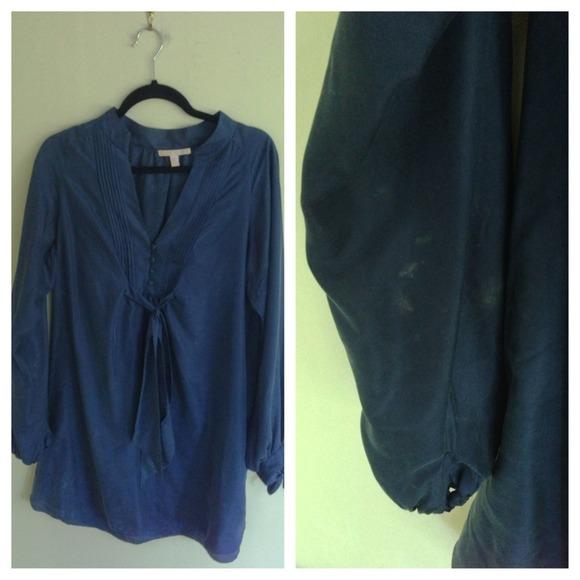 Rebecca Taylor Dresses - Rebecca Taylor blue silk tie dress size 10