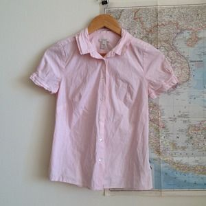 ⬇️ REDUCED J.Crew pink short sleeve blouse