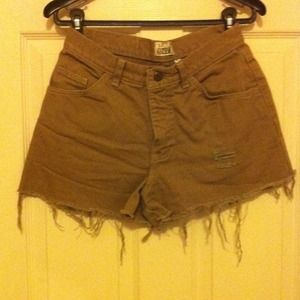 60% off Pants - Super High Waisted Tan Shorts from Brie's closet ...