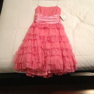 Prom graduate pink dress