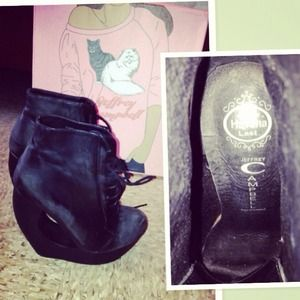 Jeffrey Campbell Roxie leather shoe