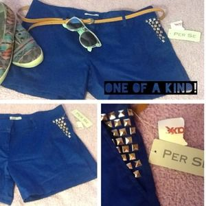 Per Se Pants - ⛄️❄️🎀OOAK royal blue shorts HANDMADE🎀