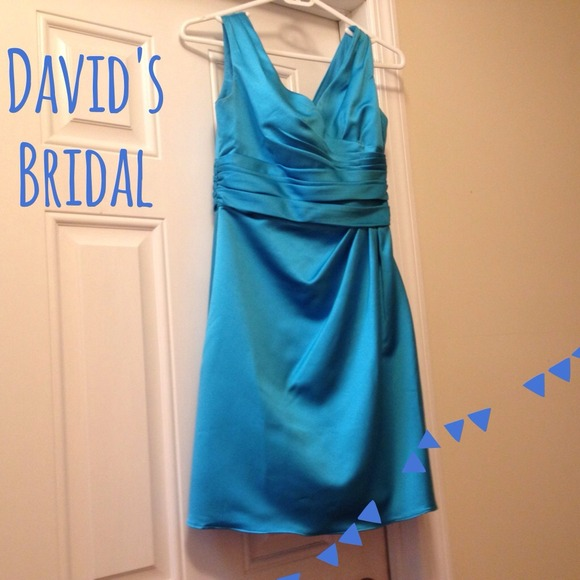 David S Bridal Bridesmaid Dress F14823 In Malibu