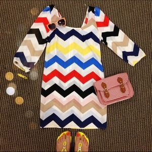 Tobi Dresses & Skirts - Colorful Chevron Dress