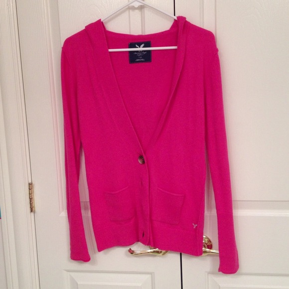 50% off American Eagle Outfitters Sweaters - AE Pink Hooded ...