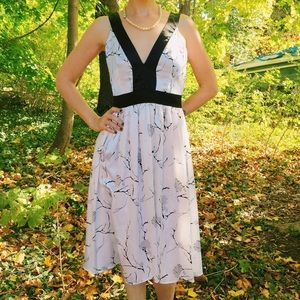 Alyn Paige Dresses - Black & White Floral Dress