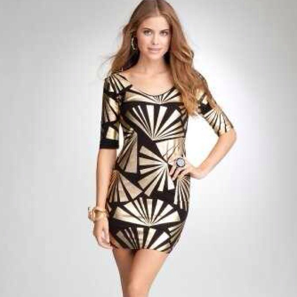 bebe Dresses & Skirts - Odessa Foil Print Dress BEBE