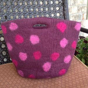 Handbags - Host Pic Boiled Wool Bucket Purse