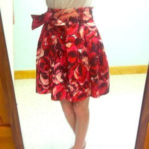 Forever twenty one floral skirt