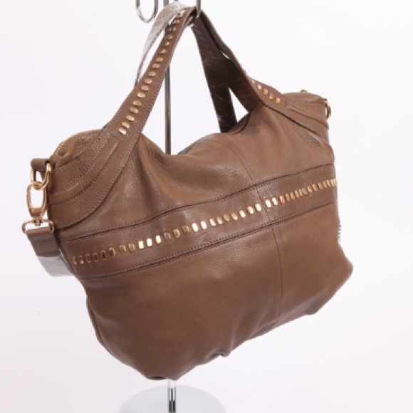 78021addf42e New Kelsi Dagger Alexandra Pebbled Brown Handbag