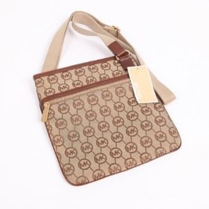 Michael Kors Signature MK Brown Monogram Crossbody