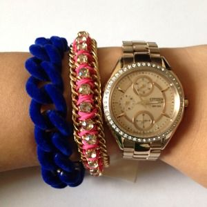 ASOS Jewelry - Asos gold and cobalt velvet bracelet