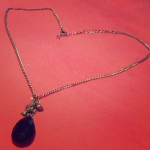 Jewelry - ⛄️❄️NWOT black drop necklace BOHO, FEATHERS, BIRD