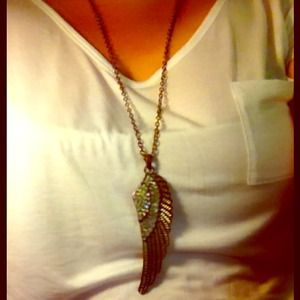 Jewelry - ⛄️❄️Angel wing necklace large, long, boho 🍃🍂🌾