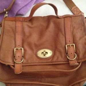 Fossil Brown Leather Shoulder Bag 83