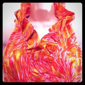 Just Taylor Ruffled Sleeveless Banded Waist Dress