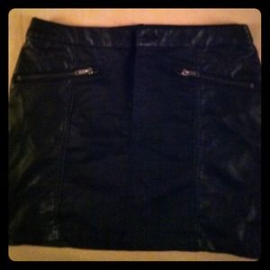 Black h&m skirt with faux leather panels!