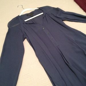 BCBGmaxazria navy blue shirt dress tunic