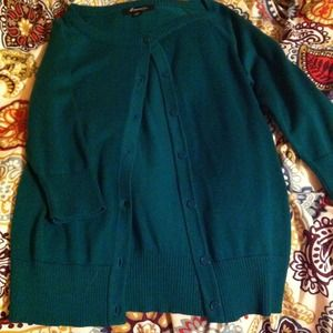 Green sweater. Size small